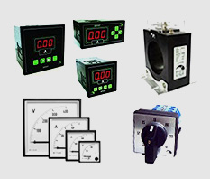 INSTRUMENTI: Voltímetros, amperímetros, frequencímetros, medidores digitais, transdutores, transformadores de corrente, shunts e comutadoras.